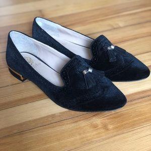 Vince Camuto Black Velvet Women's Flats